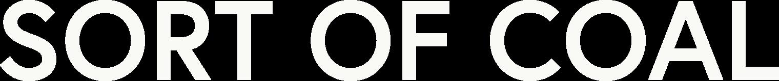 Sort of coal logo white